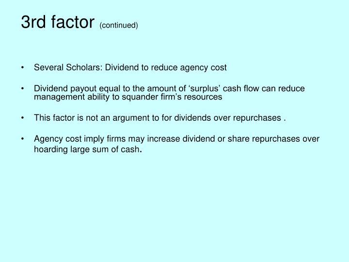 3rd factor