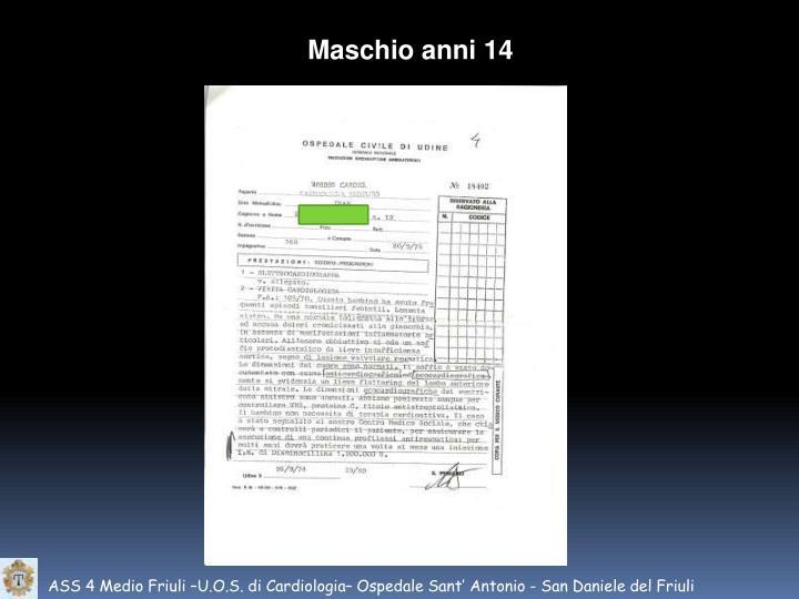 Maschio anni 14