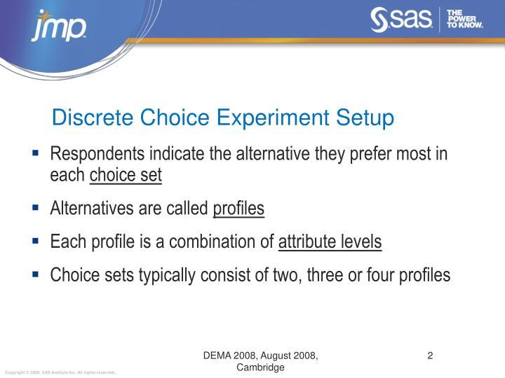 Discrete Choice Experiment Setup