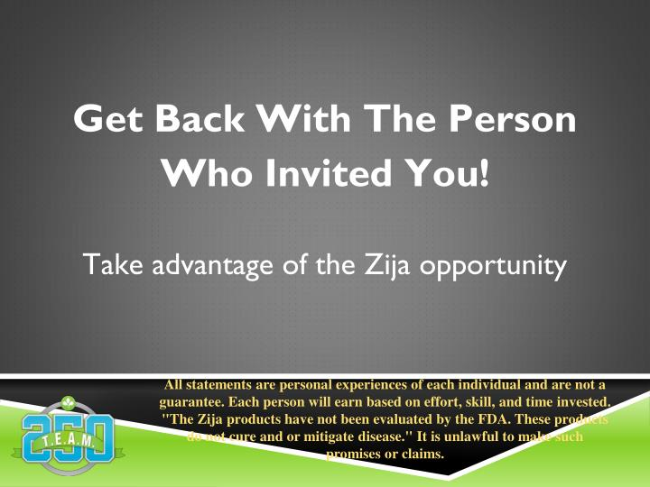Get Back With The Person