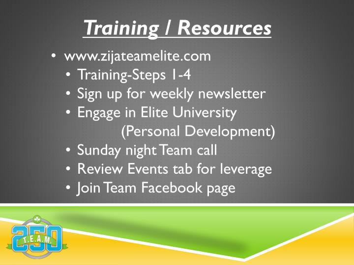 Training / Resources