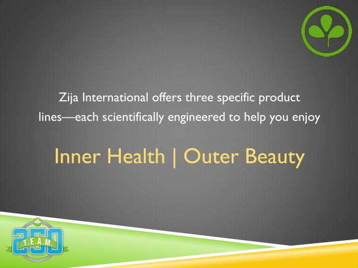 Zija International offers three specific product