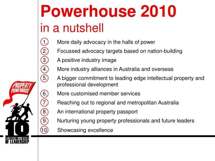 Powerhouse 2010