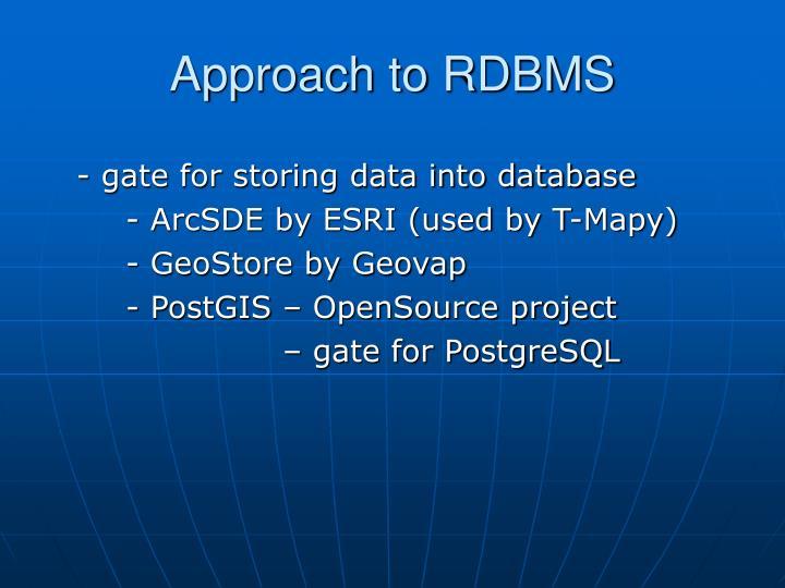 Approach to RDBMS