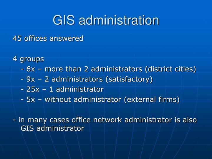 GIS administration