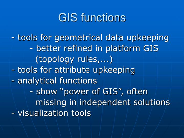 GIS functions