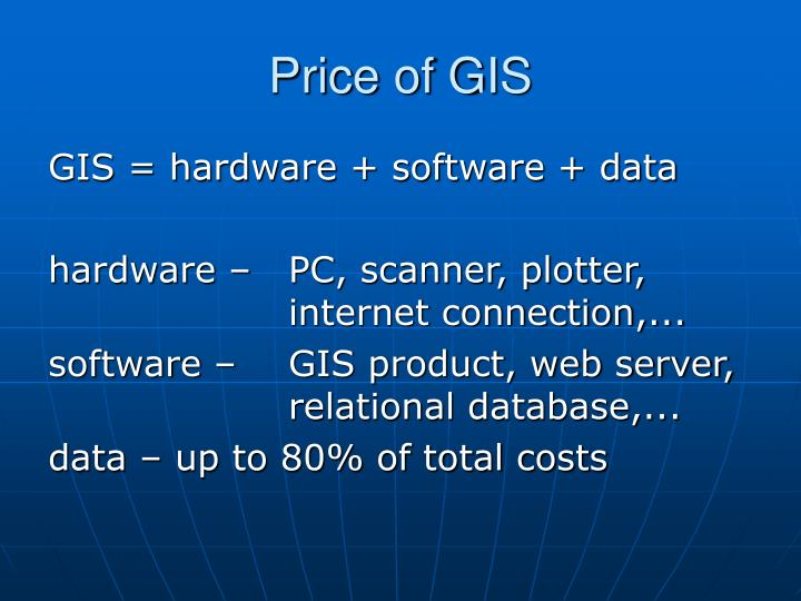 Price of GIS