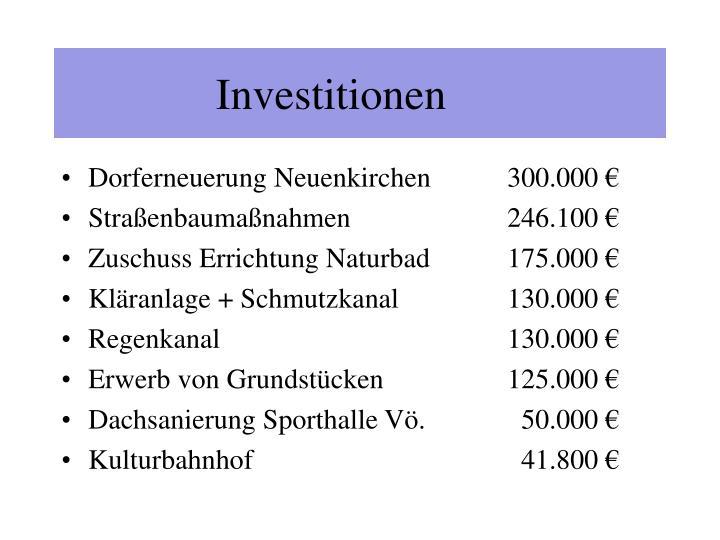 Investitionen