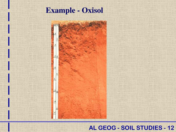 Example - Oxisol