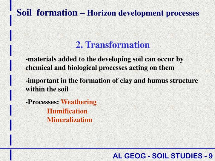 Soil  formation –