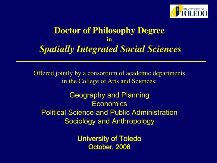 Doctor of Philosophy Degree
