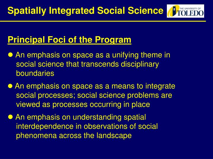 Spatially Integrated Social Science