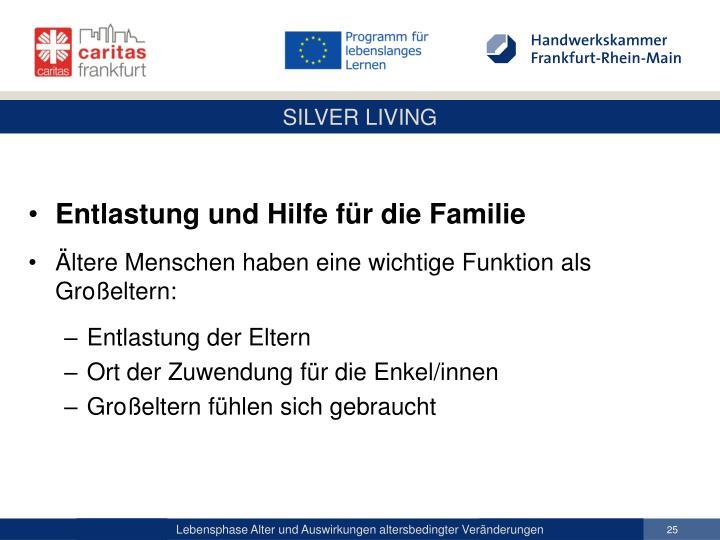 Entlastung und Hilfe für die Familie