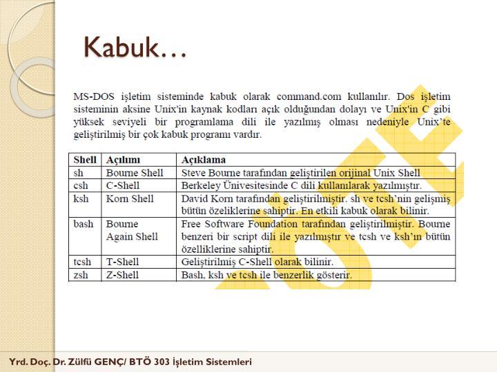 Kabuk…
