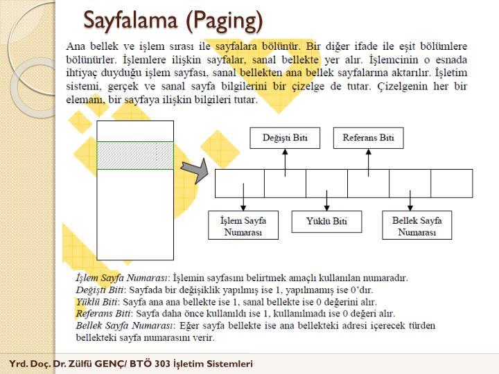 Sayfalama (