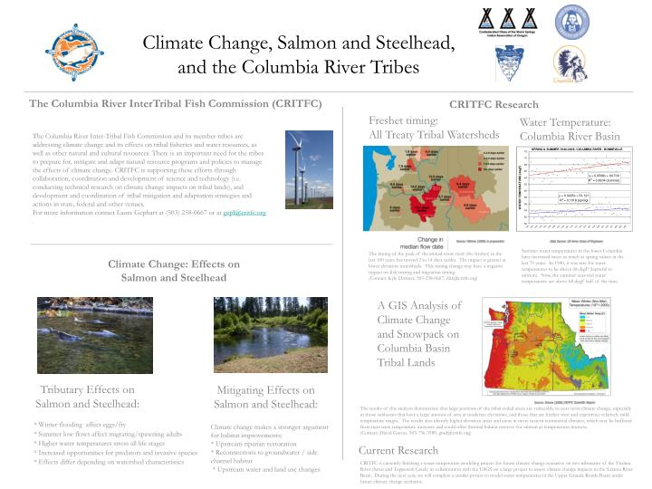 Climate Change, Salmon and Steelhead, and the Columbia River Tribes