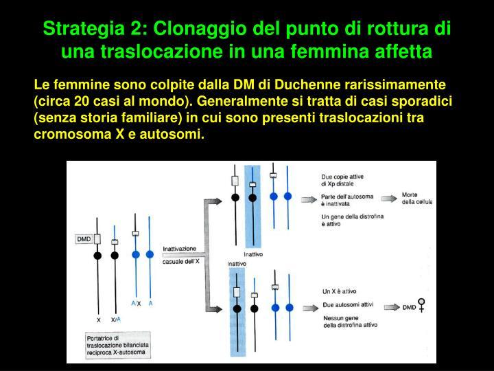Strategia 2: Clonaggio del punto di rottura di una traslocazione in una femmina affetta