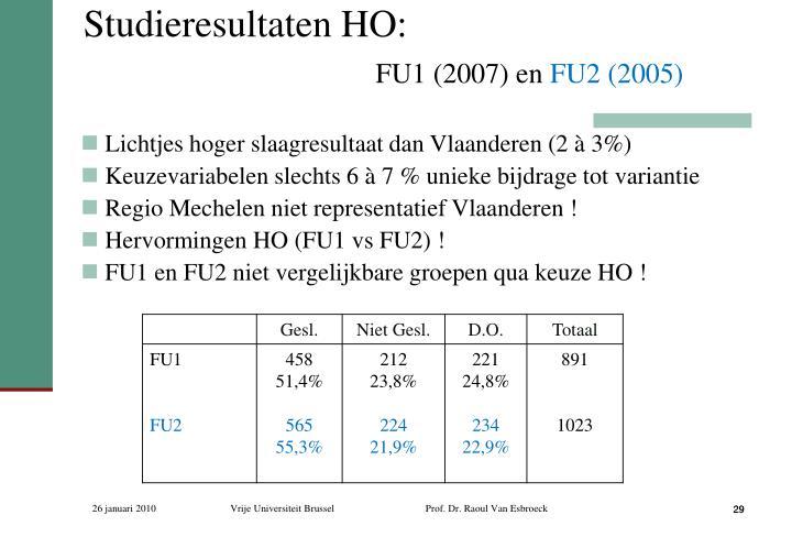 Studieresultaten HO: