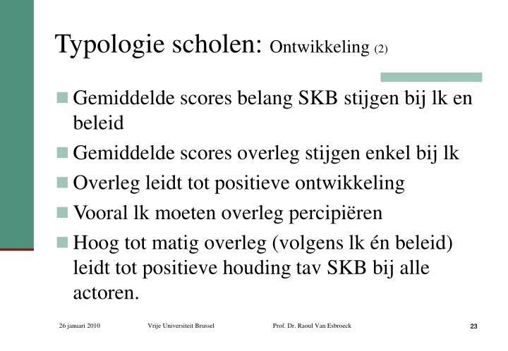Typologie scholen: