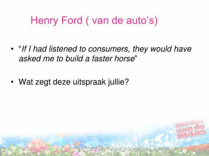 Henry Ford ( van de auto's)