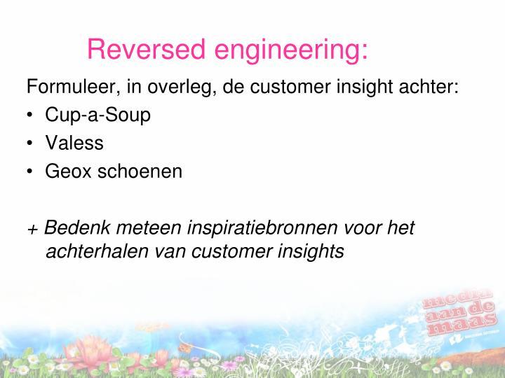 Reversed engineering: