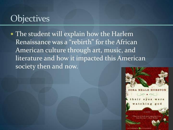 analysis of the harlem renaissance art essay The harlem renaissance, also known as the new negro movement and dating from approximately 1919 to 1935, is recognized as one of the most important and productive periods in the history of american literature, art, and culture.