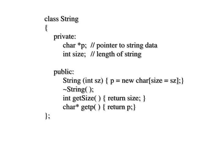 class String