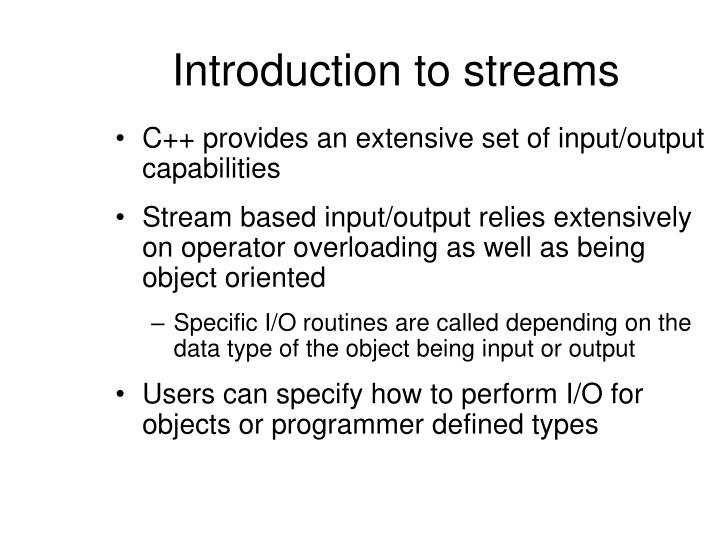 Introduction to streams