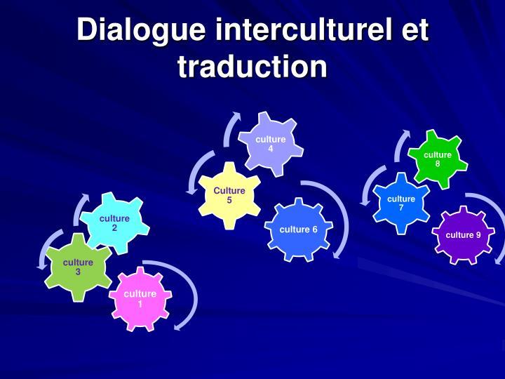 Dialogue interculturel et traduction