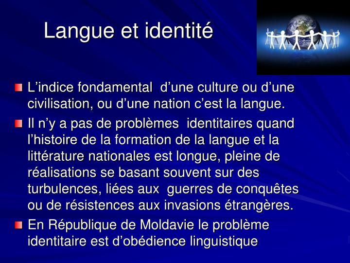 Langue et identité
