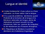 langue et identit