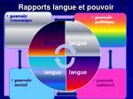 rapports langue et pouvoir