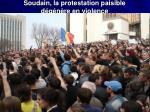 soudain la protestation paisible d g n re en violence
