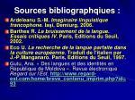 sources bibliographqiues