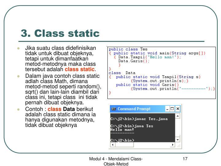 3. Class static