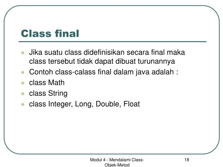 Class final
