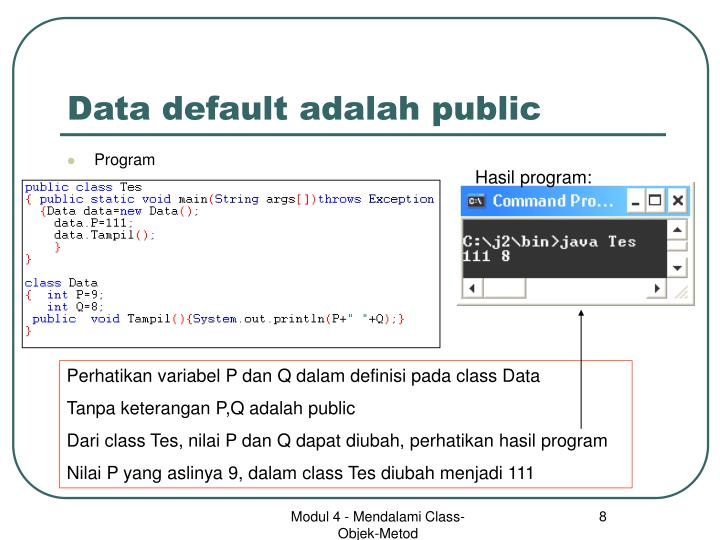 Data default adalah public