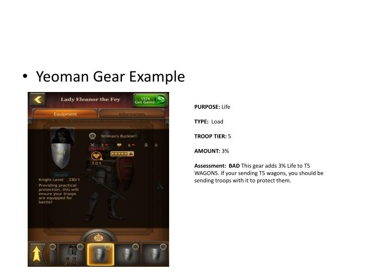 Yeoman Gear Example