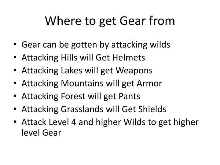 Where to get Gear from