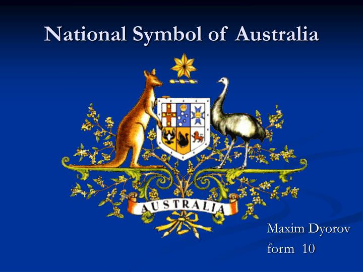 National symbol of australia