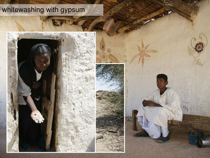 whitewashing with gypsum