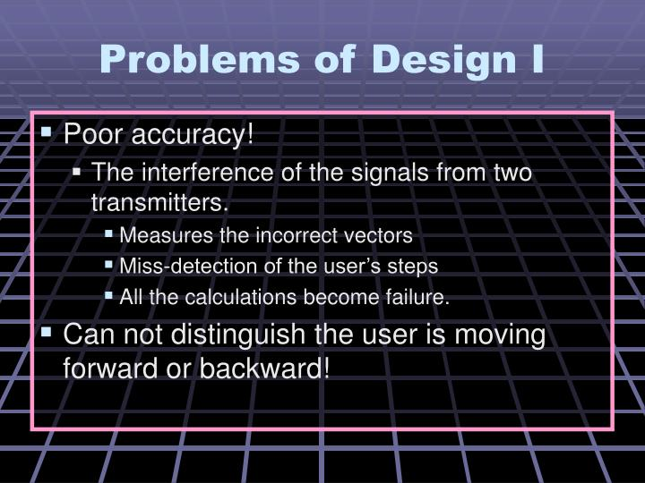 Problems of Design I