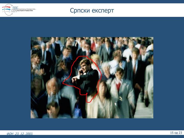 Српски експерт