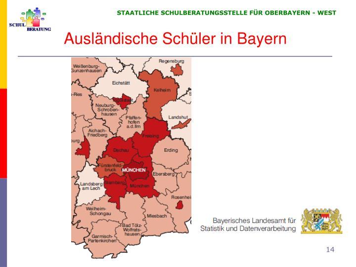 Ausländische Schüler in Bayern
