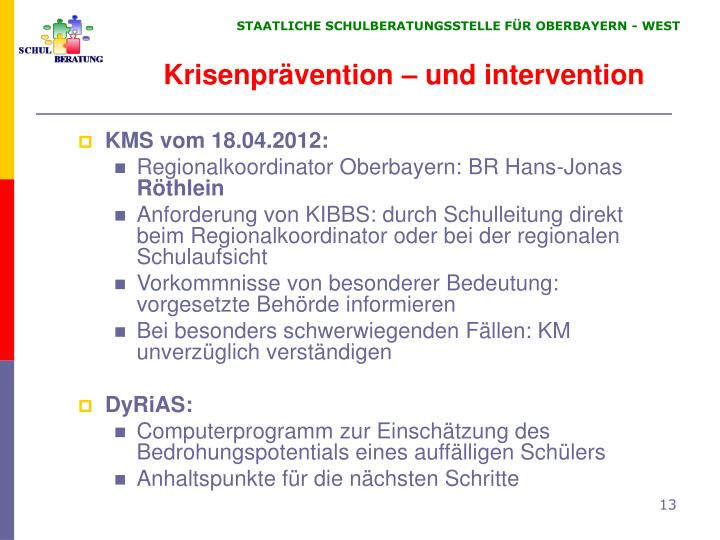 Krisenprävention – und intervention