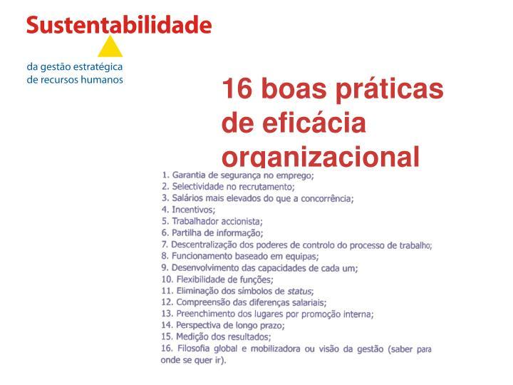 16 boas práticas