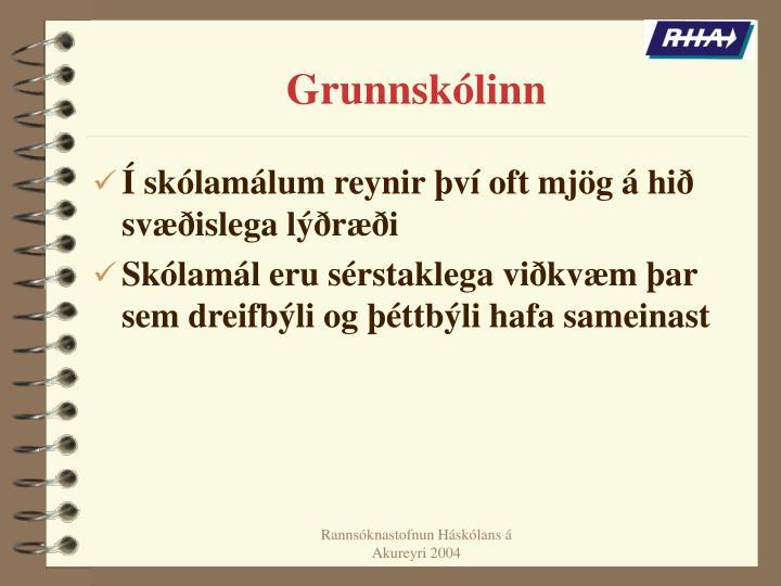 Grunnskólinn