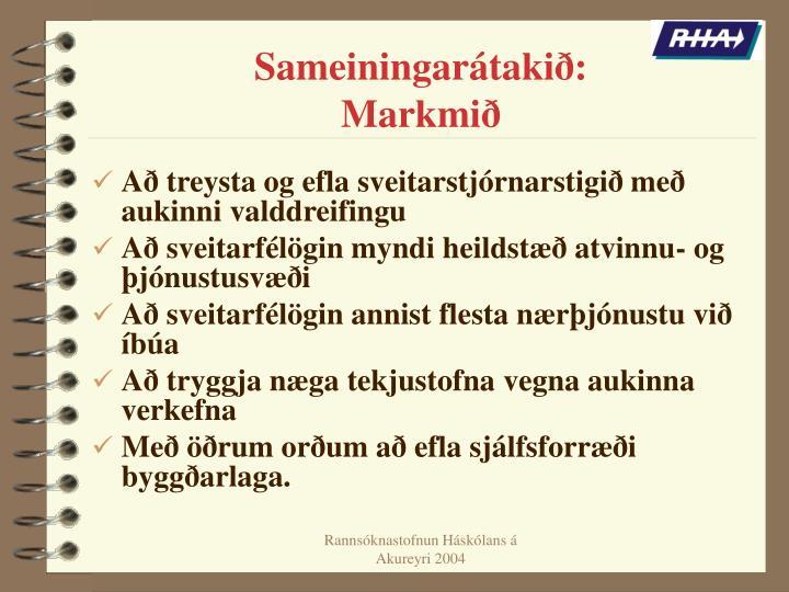 Sameiningarátakið: