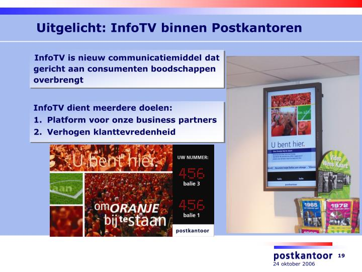 Uitgelicht: InfoTV binnen Postkantoren