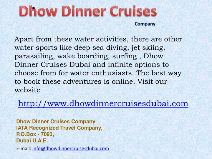 Dhow Dinner Cruises